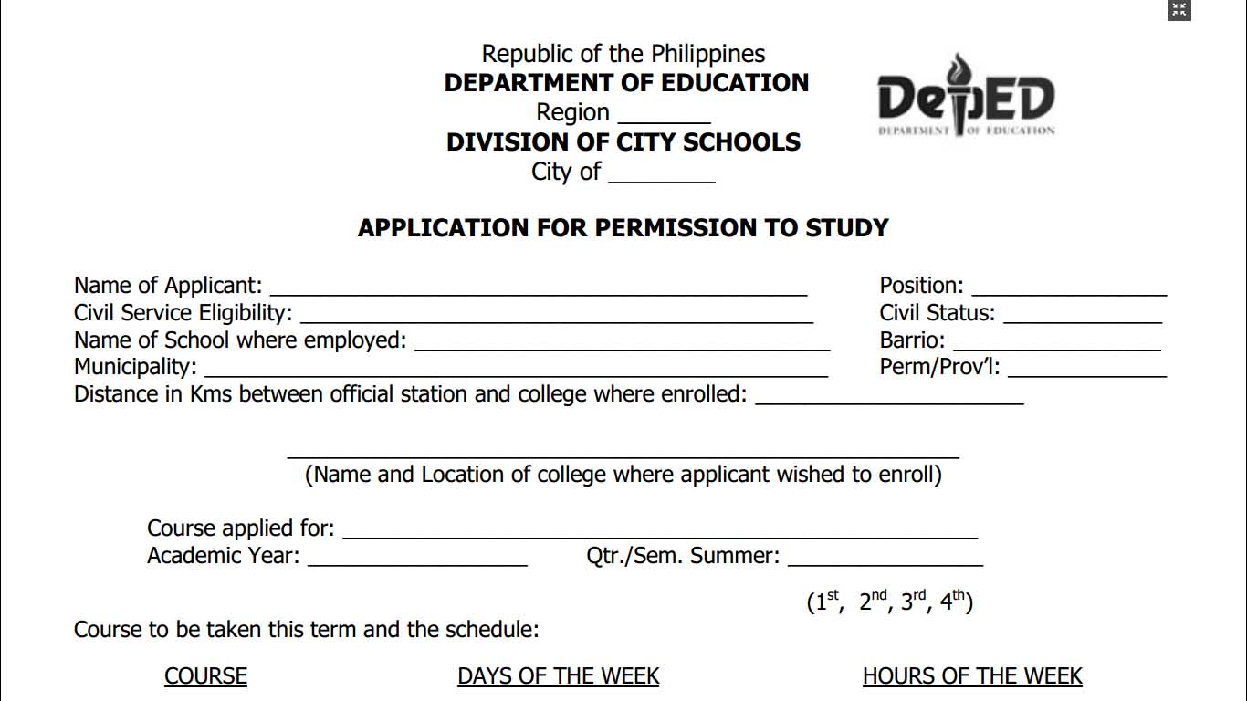 application form to study in canada