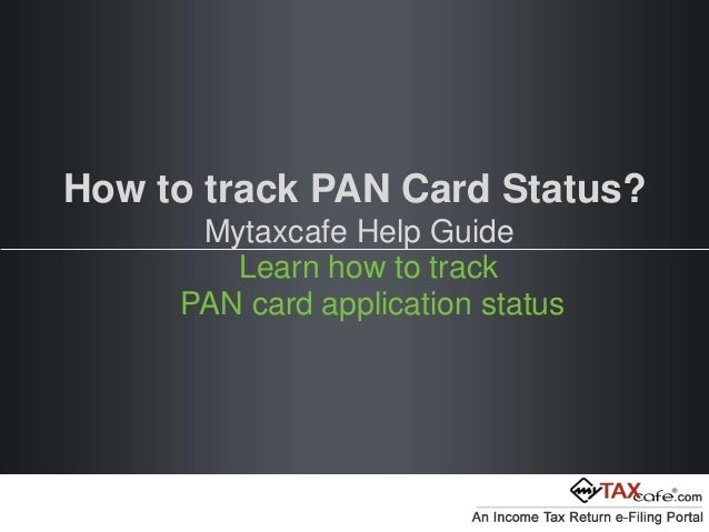 track pan card by application number