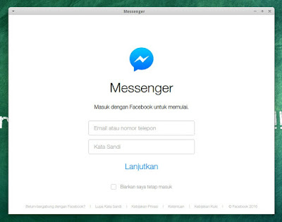 facebook messenger application for pc