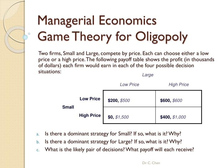 game theory with applications to economics