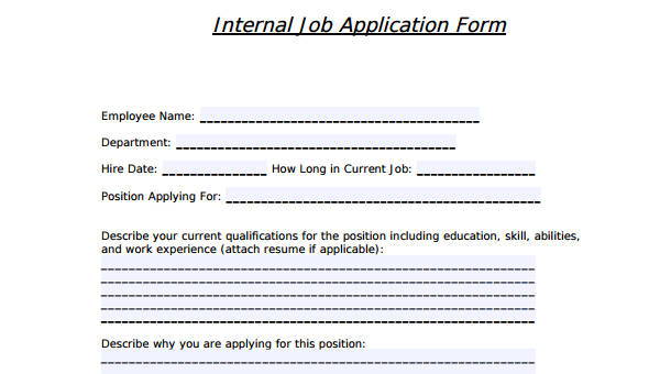 html job application form template