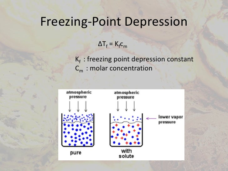 applications of freezing point depression