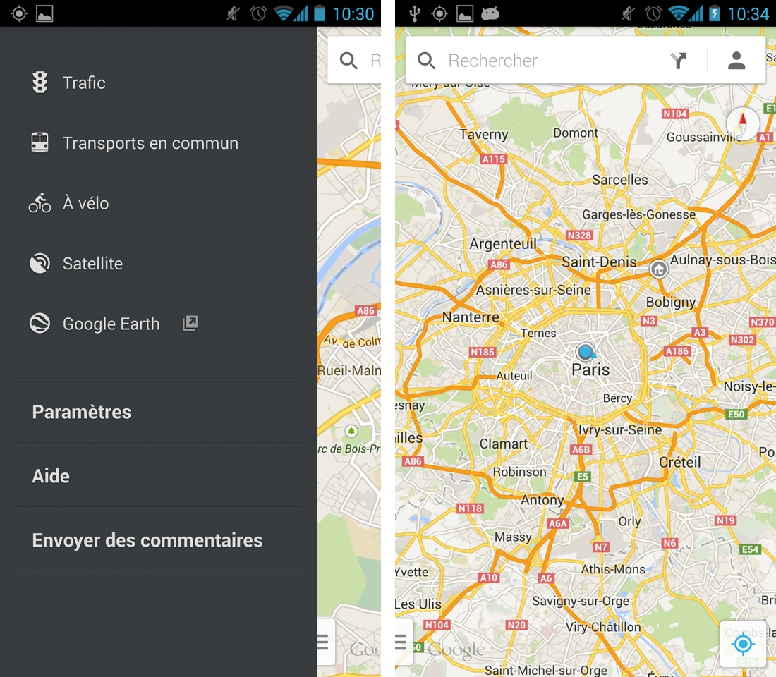 application mise a jour android