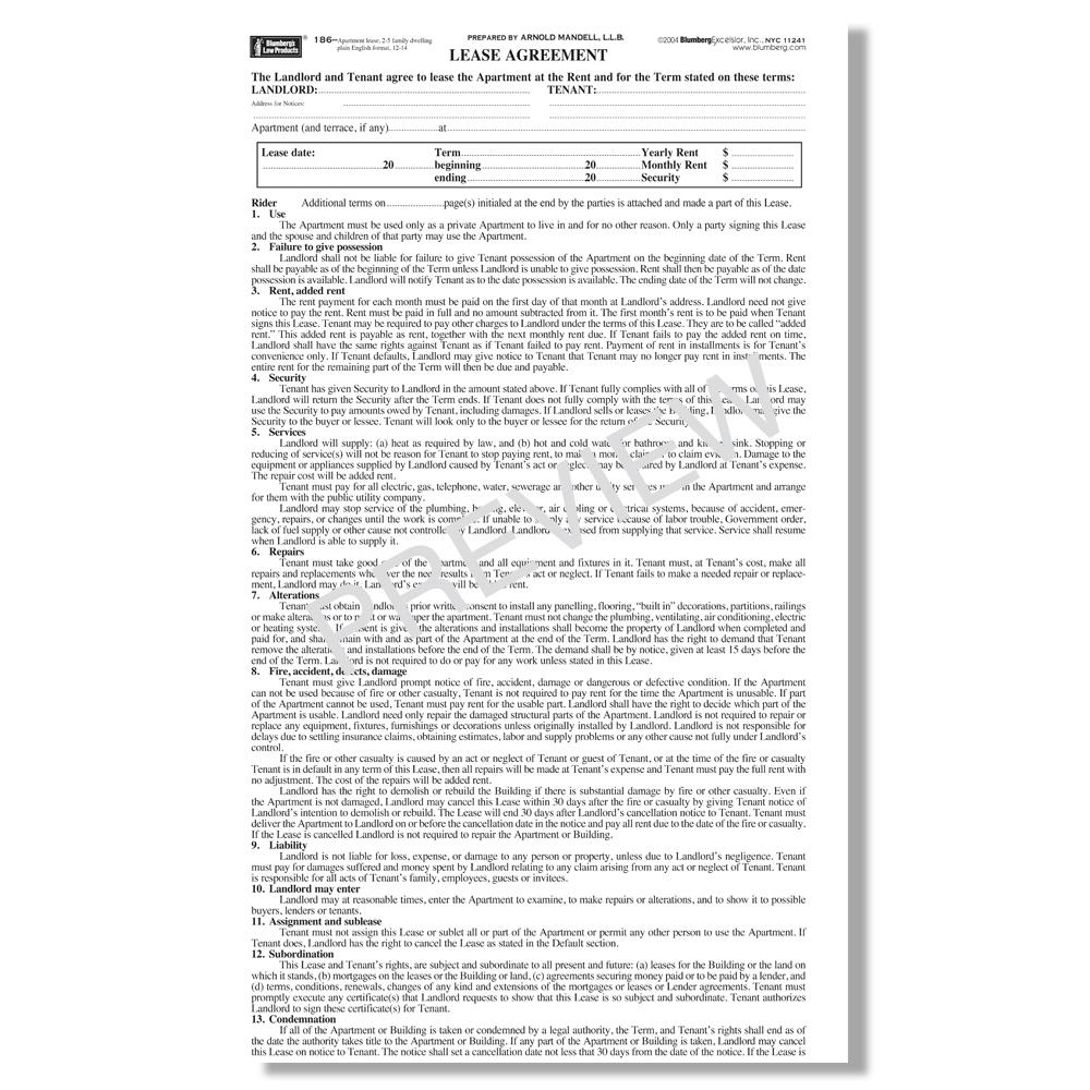 apartment rental application form canada