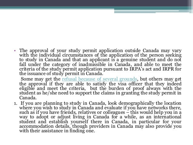 application for student visa outside canada