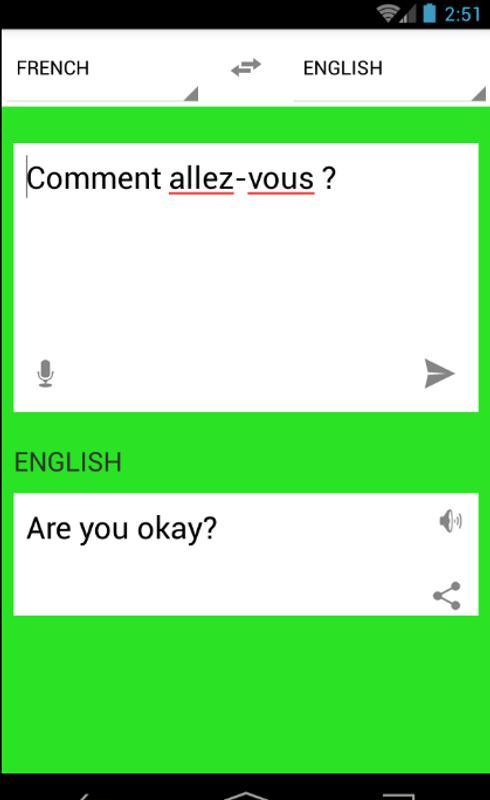 application gratuite traduction anglais francais
