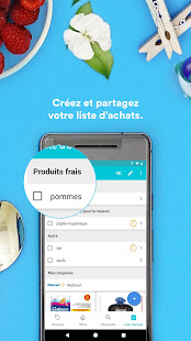 application partage liste de courses