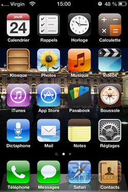 application pour le bouton home iphone
