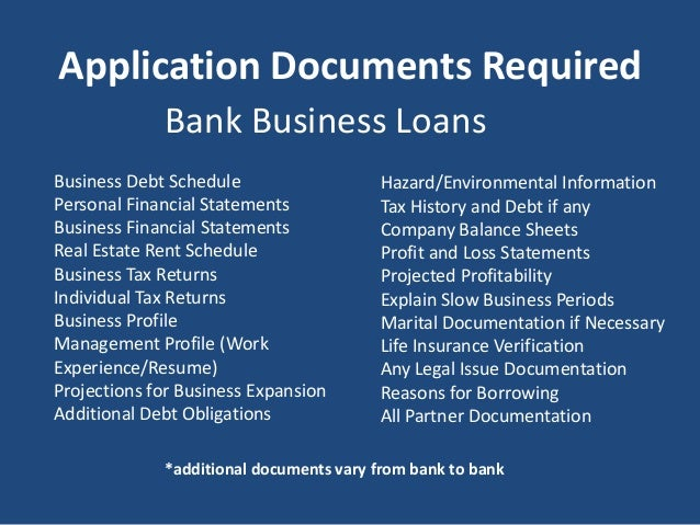 standard bank business loan application requirements