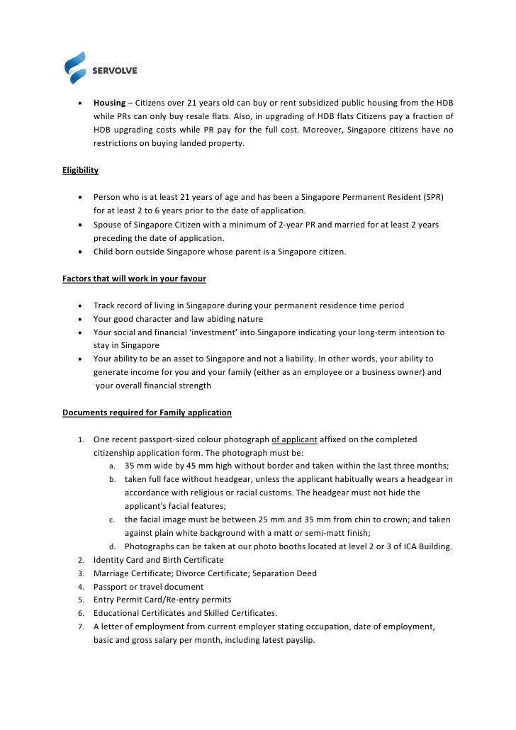 checklist application for permanent residence