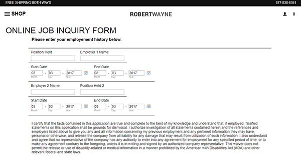 famous footwear job application online