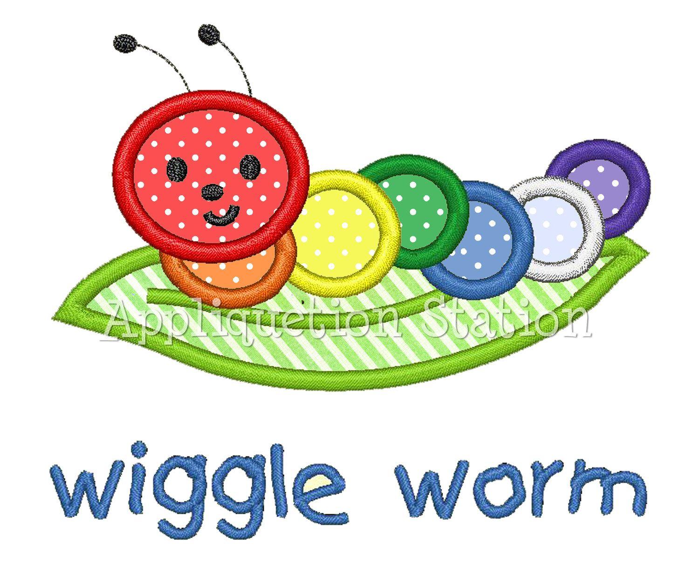 hungry caterpillar applique embroidery design