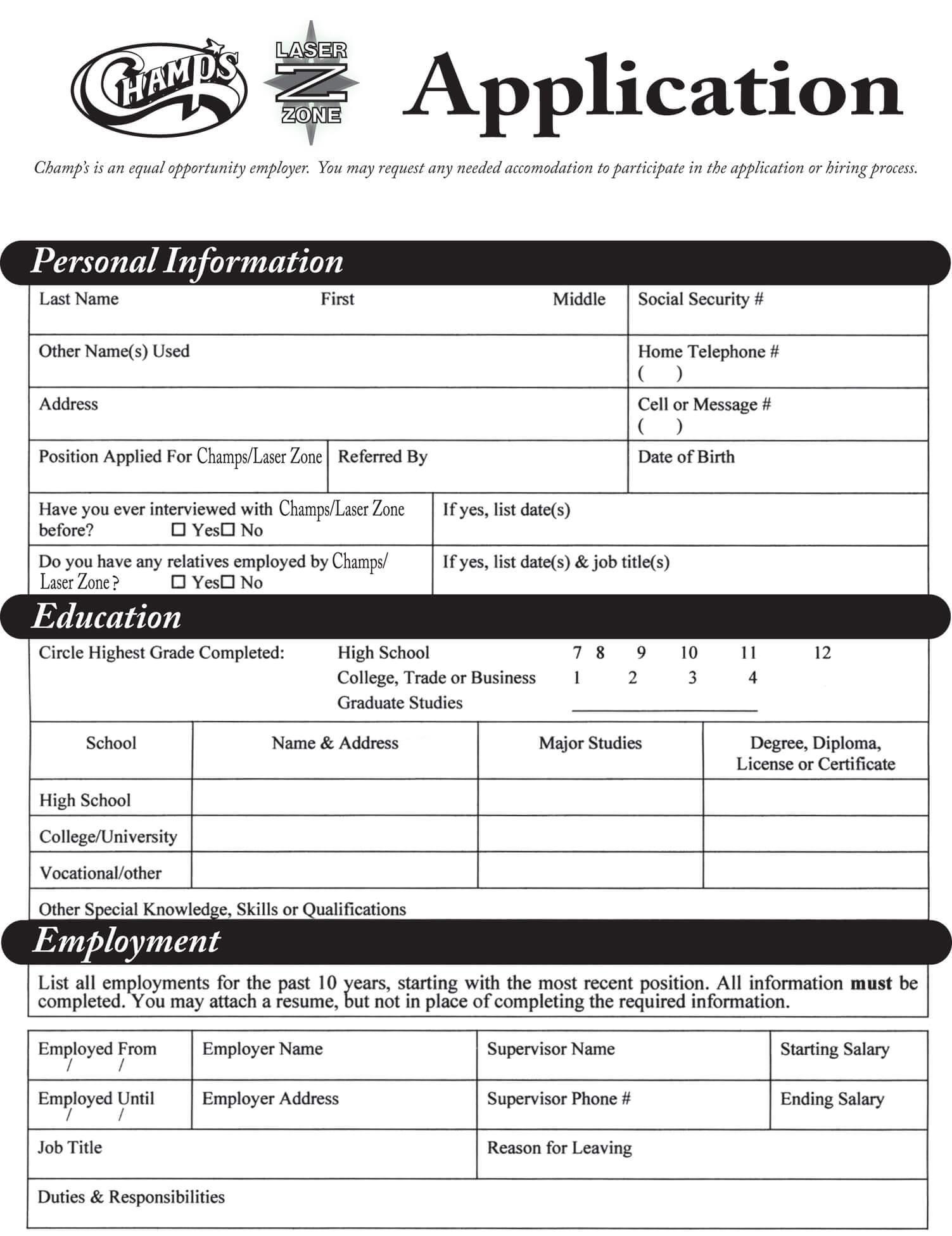 mcdonalds job application form pdf