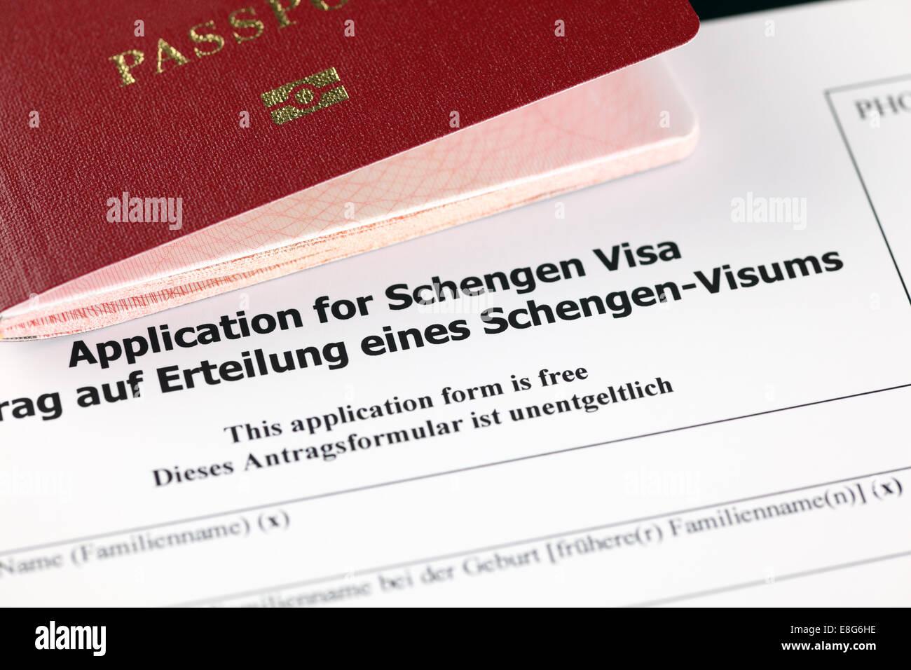 schengen transit visa application form