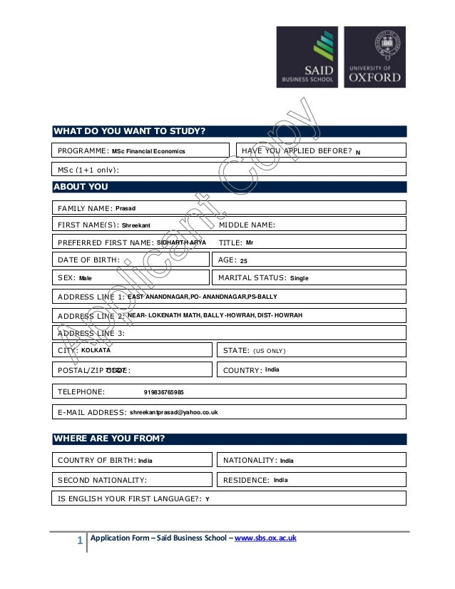 university of london application form