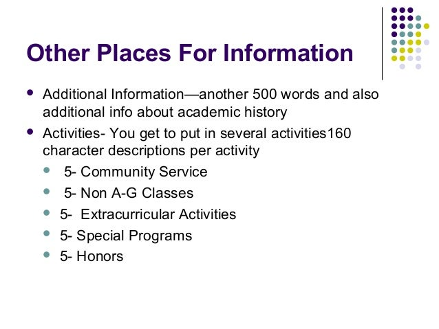 what to put for extracurricular activities on a college application