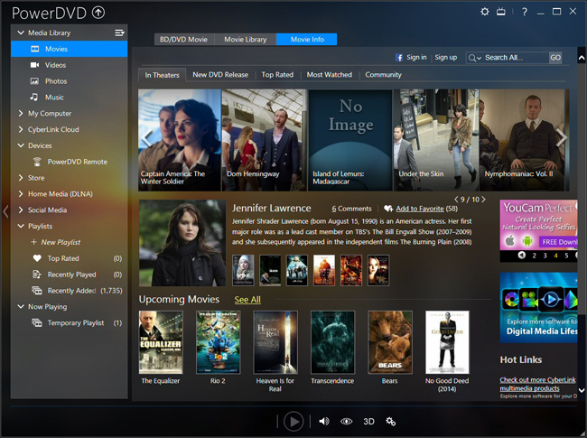 windows media center blu ray playback application