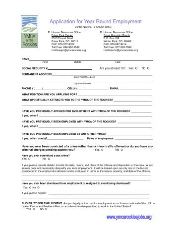ymca job application form pdf